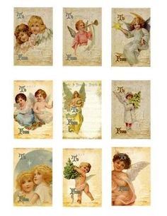 Lovely cards for scrapbooking or paper creations.  Available at FrogsAttic on etsy