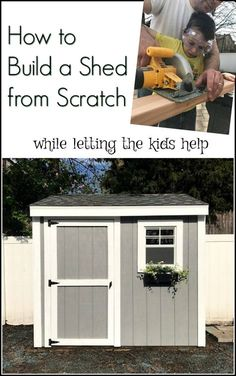 when building a shed from scratch becomes a family affair. Teaching kids to use tools and build a shed. DIY for the whole family.