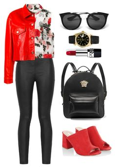 """""""Geen titel #597"""" by melissa-klink ❤ liked on Polyvore featuring Armani Jeans, Ganni, Golden Goose, Monsoon, Versace, Prada, Rolex and Christian Dior"""