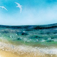 fused glass seascape - Google Search