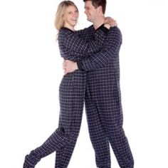 and White Unisex Adult Onesie Footed Pajamas by Big Feet Pajamas b0002ed03