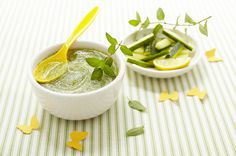 #recette de Gaspacho au concombre et menthe pour #bébé au #Nutribaby