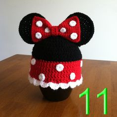 60pcs Mickey Hat, Minnie Mouse Hat, Mouse Ears, Mickey Ears, Minnie Ears, Crochet Mickey Hat, Minnie Crochet Hat, Crochet Beanie