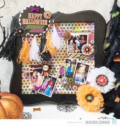 Halloween Collage by Heather Leopard