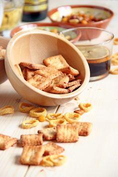 Crackers crujientes de queso