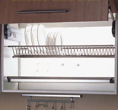 90CM Wall Kitchen Cabinet Cupboard 2 tier 304 Stainless Steel plate bowl cup drying rack dinnerware organizer Dryer-in Kitchen Storage from Home Improvement on Aliexpress.com | Alibaba Group