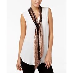 Inc International Concepts Reversible Sequined Skinny Scarf, Only at Macy's - Gold Mermaid Sequin, Skinny Scarves, Fashion Brands, Sequins, Fashion Outfits, Clothes, Bronze, Shopping, Shawl