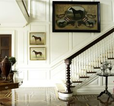 black banister and treads
