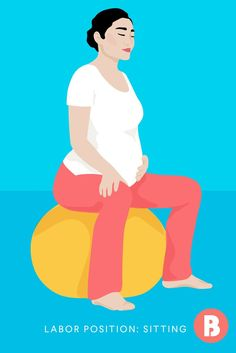 When you feel baby's weight bearing down, you may just want to sit down—and that's okay. Whether it's in a birthing chair or even on a toilet, sitting and spreading your legs in this labor position can relieve some of the pressure on your pelvis.
