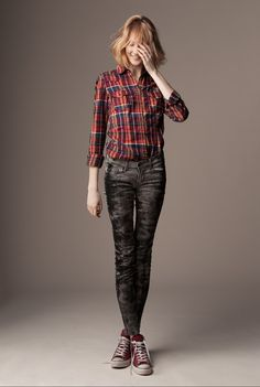 rock girl look fashion clothes