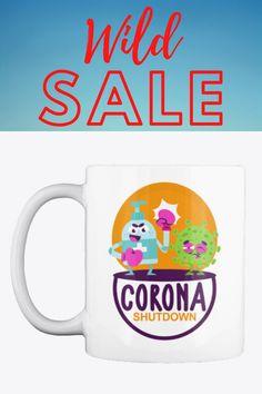 Excellent quality gift mug with a lovely design. The design is the same on both side of the gift mug. Corona Virus Shut Down Coffee/Tea Mug Would make a great gift for any occasion. #corona #mug #coronavirus