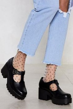 Chunky Platform Mary Janes | Nasty Gal Dr Shoes, T Bar Shoes, Cute Shoes, Me Too Shoes, Comfy Shoes, Comfortable Shoes, Casual Shoes, Shoes Heels, Mary Jane Outfit