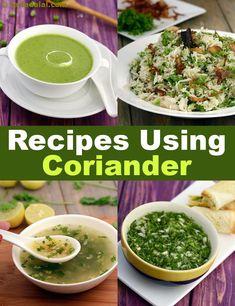 5547 coriander recipes | indian veg coriander recipes | Tarladalal.com