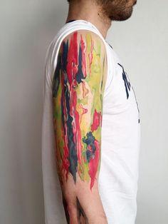 Fake Tattoos, Unique Tattoos, Tattoos For Guys, Temporary Tattoo Sleeves, Custom Temporary Tattoos, Quarter Sleeve Tattoos, Best Sleeve Tattoos, Jackson Pollock, Photomontage