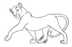 Lineart - Pretty Lioness by Naara-Kantayeni on DeviantArt Lion Drawing, Pitbull Art, Lion King Drawings, Animal Drawings, King Drawing, Drawing Base, King Coloring Book, Cute Disney Drawings, Cute Animal Drawings