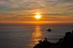Puestas de sol infinitas en el Monte do Cabo. Fisterra.