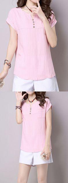 Summer short sleeve pocket button v-neck women t-shirts running t shirts women#8217;s #plain #white #t #shirts #womens #t #shirt #with #girl #giving #the #finger #womens #world #cup #t #shirts #womens #zombie #t-shirts