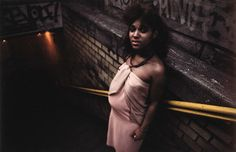 Untitled, Subway, New York , (Purple dress), early 1980s Dye Transfer Print 20 x 24 inches