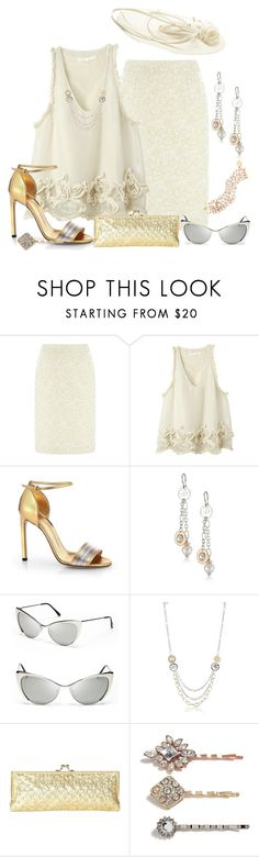 """""""Shinny accessories"""" by dgia ❤ liked on Polyvore featuring Kaliko, Gucci, Rebecca, Tom Ford, La Regale, GUESS and Philip Treacy"""