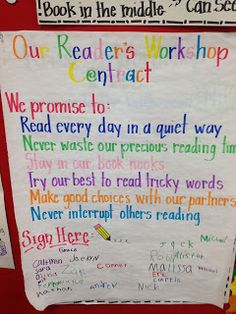 "Can just be a "" reading contract"" - shows expectations for reading time ."