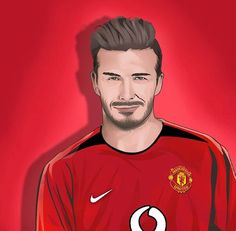 Charming Man, Vector Portrait, David Beckham, Manchester United, Premier League, The Unit, Football, In This Moment, Female