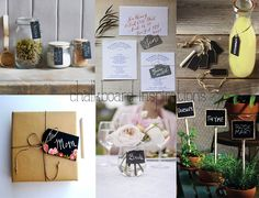 a few of our favourite uses for our ever-growing collection of chalkboard tags, stakes and plaques...