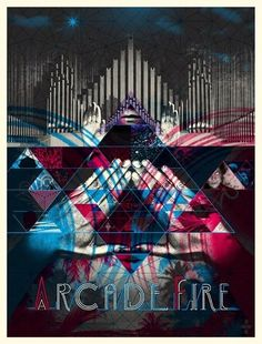 arcade fire music gig posters | Posters! » Archive »  Arcade Fire Special Edition DVD and Poster ...