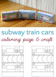 Subway train cars printable craft