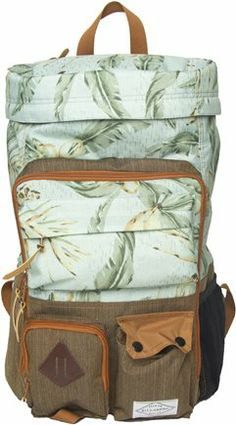 Love this light colored leafy/beachy print accented by the textured olive/taupe  tan color.