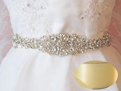 Amazon.com: Crystal Rhinestone Sash, Diamond Bridal Sash, Light Ivory Wedding Belt-Light Ivory