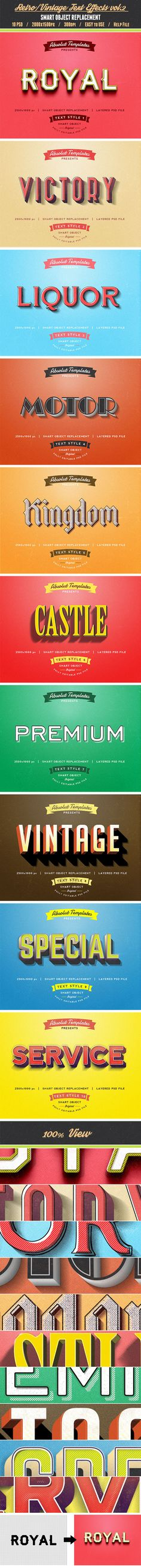 Retro Vintage Text Effects vol.2 - Text Effects Actions