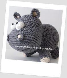 Amigurumis en un Click, hipopotamo