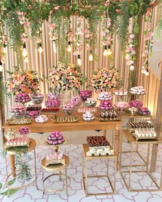 Beautiful And Romantic Bridal Shower Ideas - Bridal Shower Decorations, Birthday Party Decorations, Wedding Decorations, Birthday Parties, Wedding Stage, Dream Wedding, Gold Party, Shower Ideas, Dessert Table
