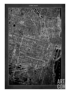 Chicago Map Giclee Print by GI ArtLab. Save up to 40% for a limited time at Art.com.