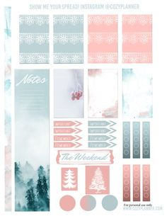 Free Printable Cool Winter Planner Stickers for Happy Planner - Cozy Planner Blog