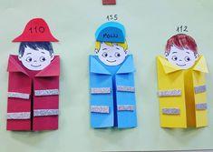 Community Helpers Crafts, Community Helpers Kindergarten, Kindergarten Teachers, Preschool Classroom, Classroom Activities, Classroom Organization, Baby Crafts, Crafts For Kids, Firefighter Crafts
