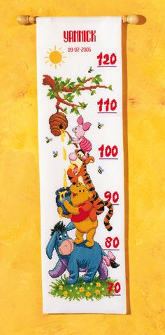 Vervaco ruler kit #Winnie the pooh #vervaco #kit #diy  #countcrossstitch
