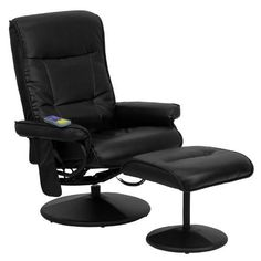 Flash Furniture BT7320MASSBKGG Massaging Black Leather ReclinerOttoman with Wrapped Base >>> Want to know more, click on the image.(It is Amazon affiliate link) #fslc