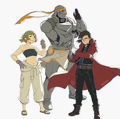 1/3 Fullmetal Alchemist au  (omg shiro is so short ha)