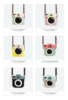 Crochet Case for Fuji Instax Camera Lomo Camera/ Pink by Meemanan