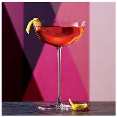Capricious: Gin, St-Germain Elderflower Liqueur, Dry Vermouth, Peychaud's Bitters, Lemon Twist.