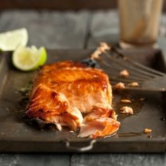 A delicious and easy recipe for grilled salmon with miso and honey #foodgawker