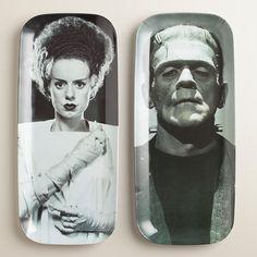 Frankenstein's Monster and Bride Platters | World Market