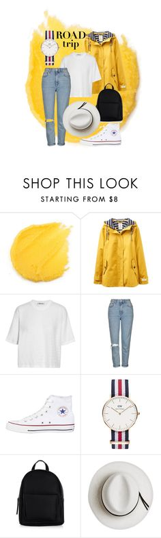 """""""Nothing Can Stop Us Now #RoadTrip"""" by peanutbuttersandwitch ❤ liked on Polyvore featuring Joules, T By Alexander Wang, Topshop, Converse, Daniel Wellington, New Look, Calypso Private Label and roadtrip"""