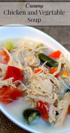 Creamy Chicken and Vegetable Soup   {Primal Friendly Recipe} {Real Food} {WAPF, Traditional}