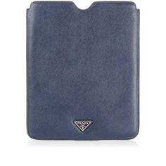 "Prada saffiano leather i-pad case [Art. ""2ARD64 BALTICO SAFFIANO TRAVEL 2AHF F0216 00""]."