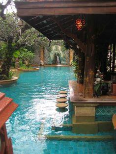 33 Mega-Impressive swim-up pool bars built for entertaining #outdoors #outdoorliving #pool