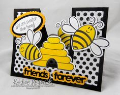 #Sizzix #Stepupcarddie #Kristine Reynolds #Friend card #Funfold #Thestampsoflife #TSOL