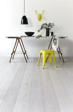 danish white hard wood floors is just one of the beauts in this setup www.royaloakfloors.com
