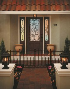 ODL Mediterranean Door Glass available on Zabitat.com. #Mediterranean pays homage to the wrought iron balconies and window grilles common in Mediterranean Revival architecture. Bring some Old World hospitality to your home and also enjoy a high level of privacy with textured translucent doorglass.